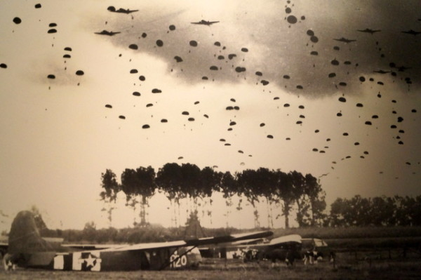 I couldn't stop staring at this photo of the paratroopers landing in Nijmegen. What a site it must have been.