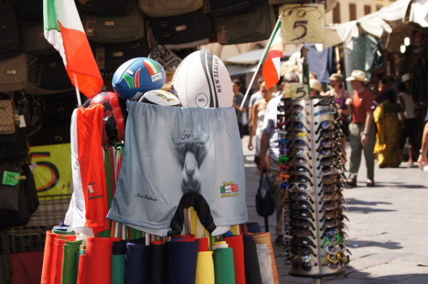 I wonder how many people pick up something like this as a souvenir. These shorts were everywhere in Florence.