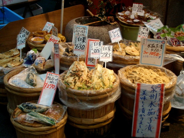 Dried fish and some other items I wasn't game to try at a market in Osaka Japan.