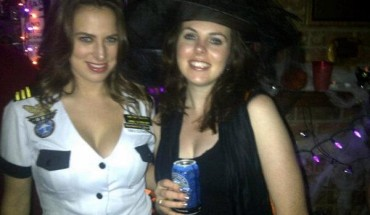 Bre and me at Halloween in Vancouver.