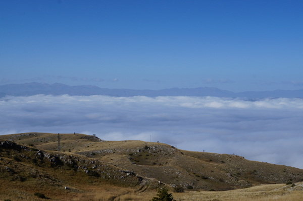 Above the clouds in Galicica National Park, Ohid
