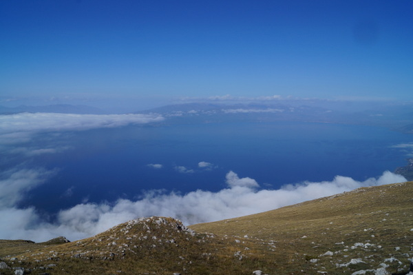 Looking north from Galicica National Park