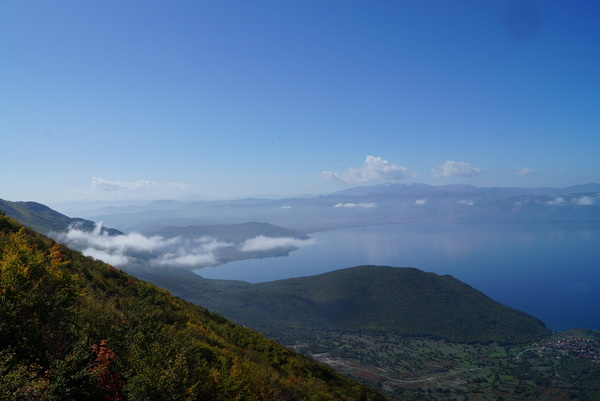 Looking south from Galicica National Park