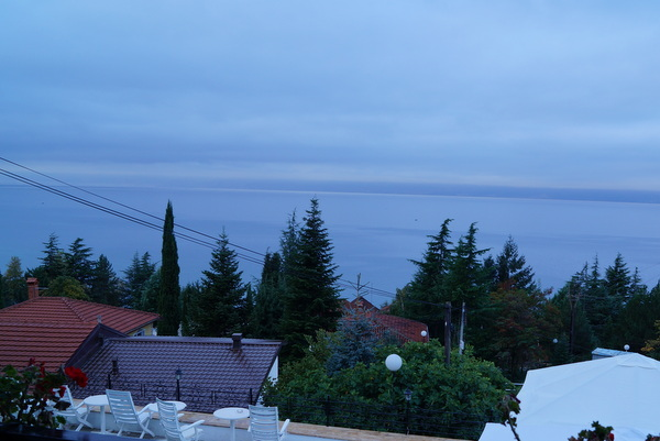 View over Lake Ohrid from Lagadin