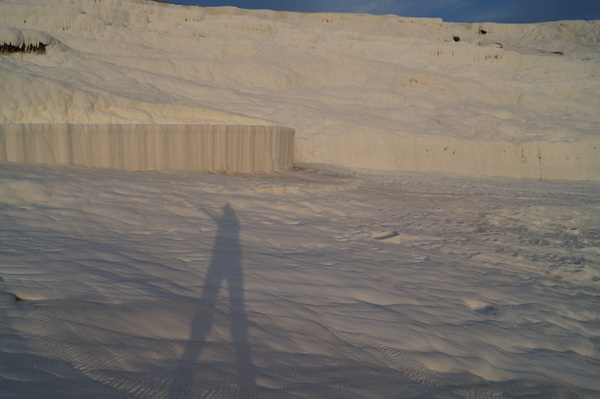 A shadow selfie at Pamukkale