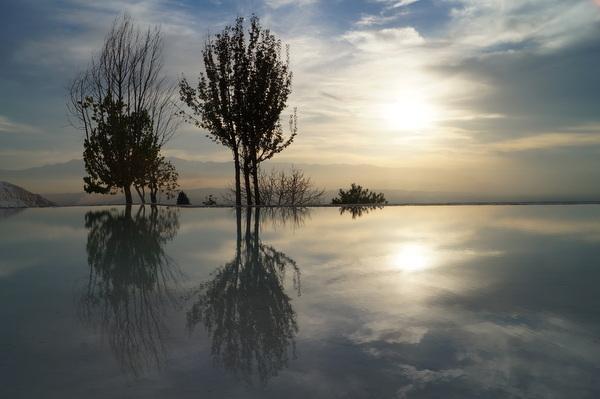 Reflections at Pamukkale