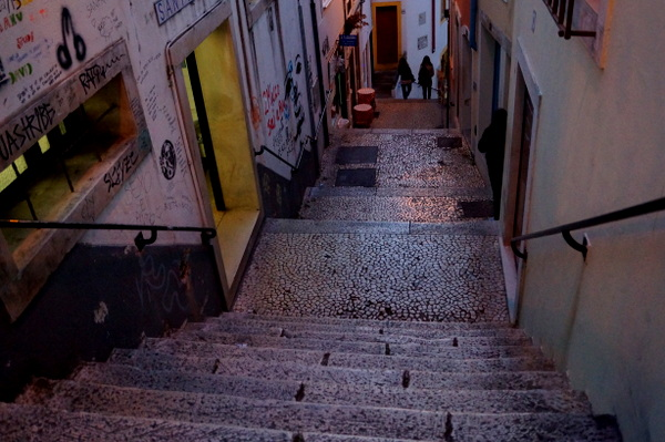 Steep streets of Coimbra