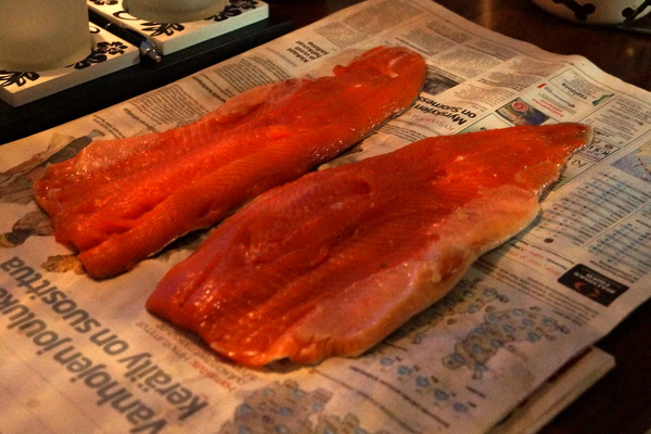 Salmon ready for cooking
