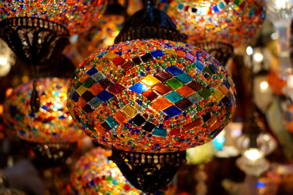 Colourful lamps at the Grand Bazaar