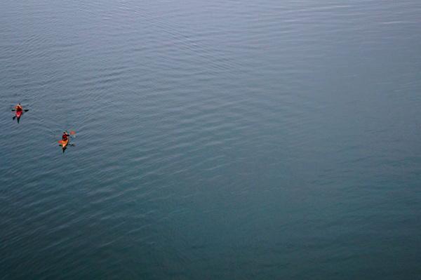 Kayaks on English Bay