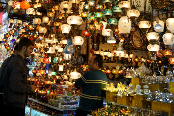Lamp stall at the Grand Bazaar