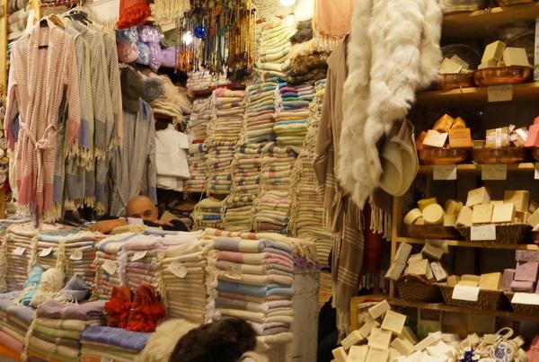Sleeping stall holder at the Grand Bazaar