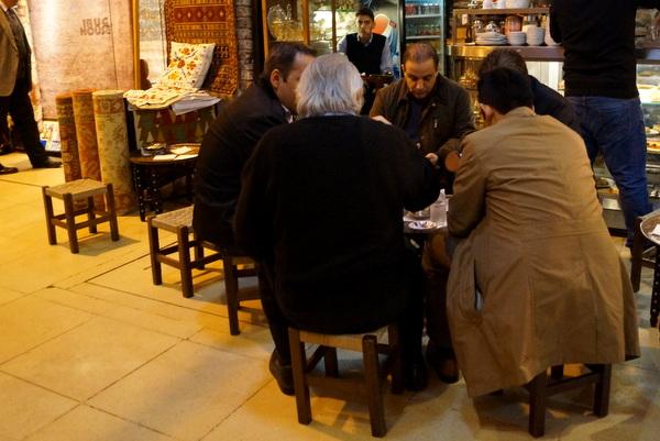 Tea shop in the Bazaar
