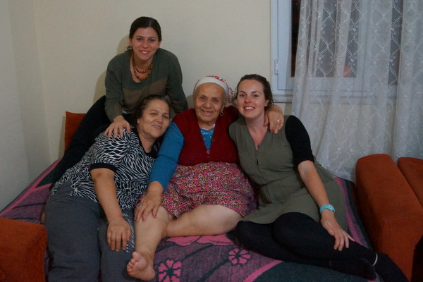 My host in Istanbul, Gülçin, with her mum and grandmother.