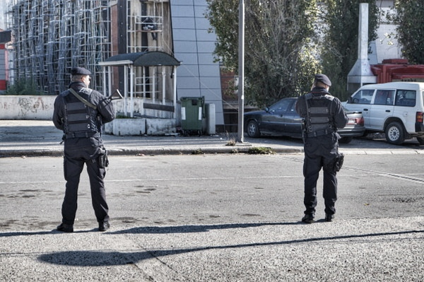 Guards in Mitrovica