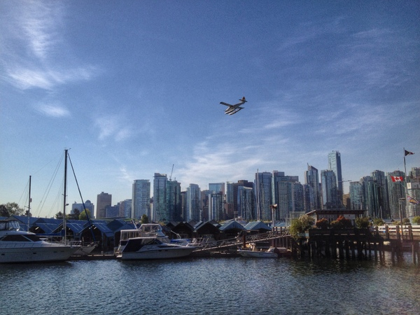 Looking back at Coal Harbour