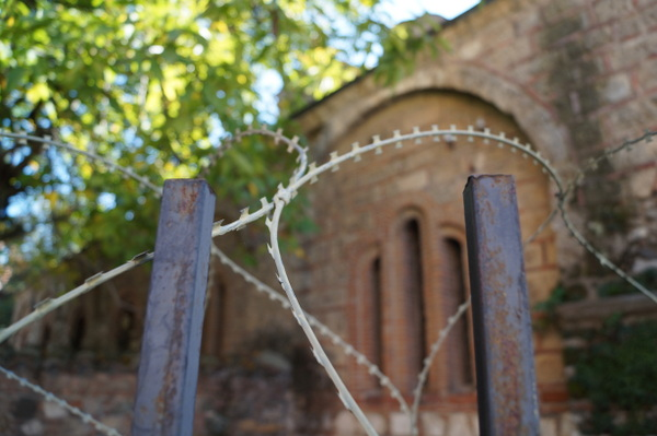 Wire across chuch in Prizren