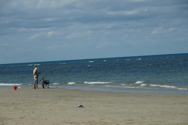 Fishing on Myall Beach