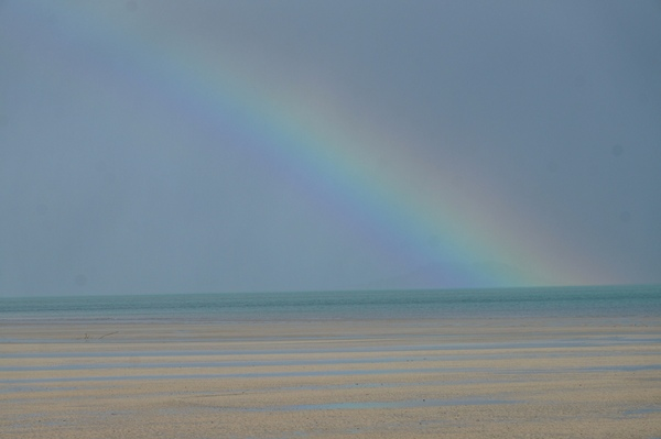 Rainbow over Frangipani Beach