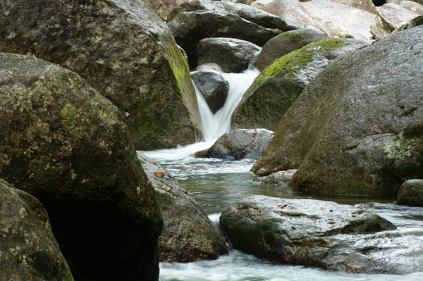 Rocks and water at Mossman Gorge