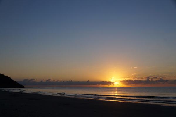 Sunrise on Day 1 at Myall Beach