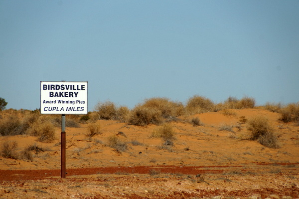 Birdsville Bakery Sign