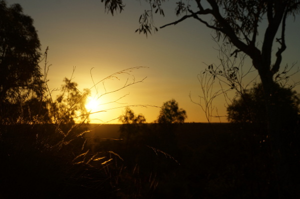 Setting sun from Constance Ranges