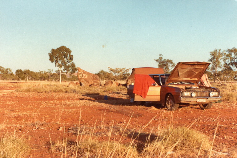 Camp between Normanton and Cloncurry 1982