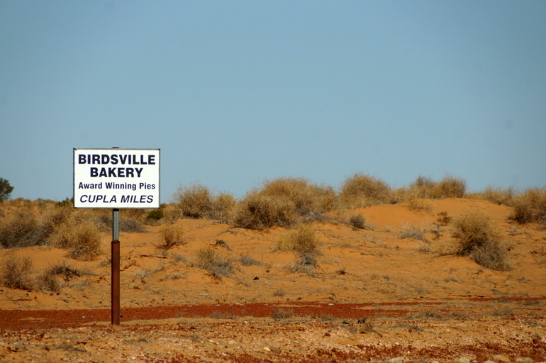 Sign for Birdsville Bakery