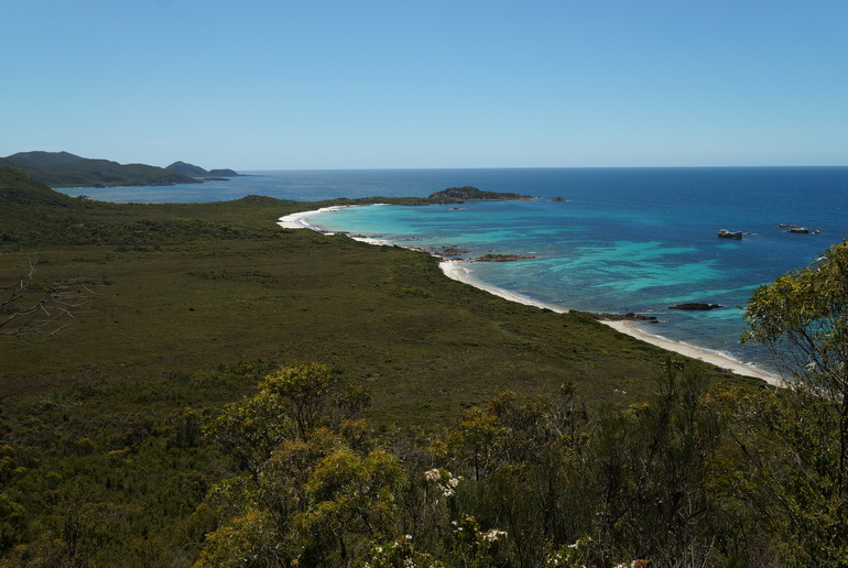 More training - A Christmas Eve hike to Anniversary Bay in Rocky Cape National Park.