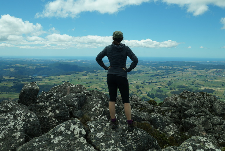 Training - on top of Mount Roland, in North-West Tasmania.