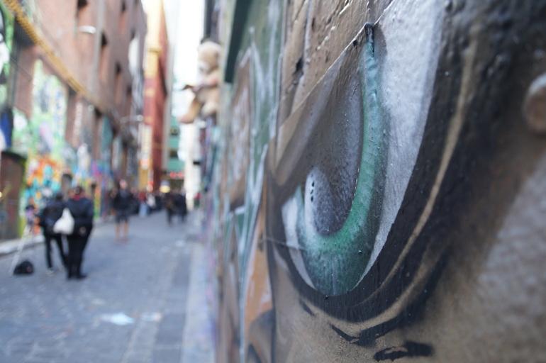 Artwork in Hosier Lane