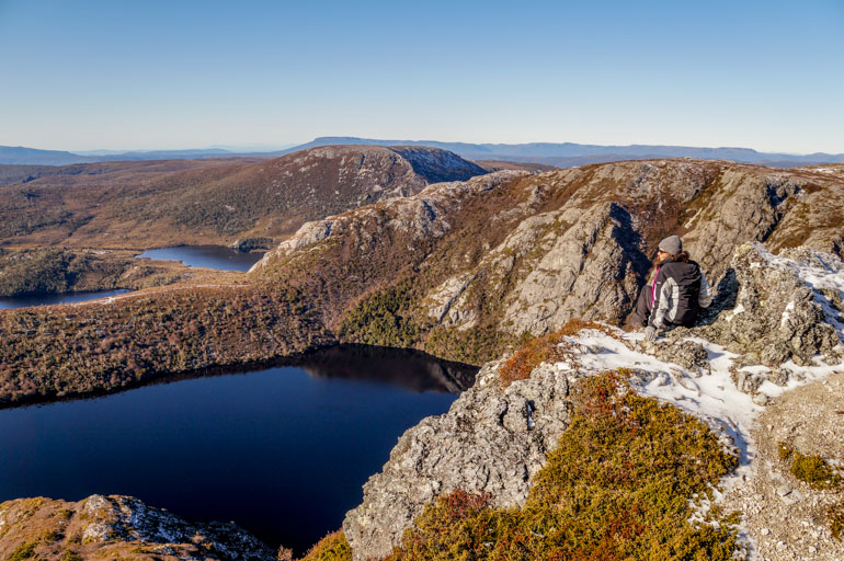 Crater Lake from Crater Peak, Cradle Mountain