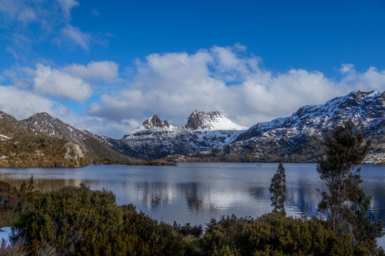 Dove Lake, Cradle Mountain in snow