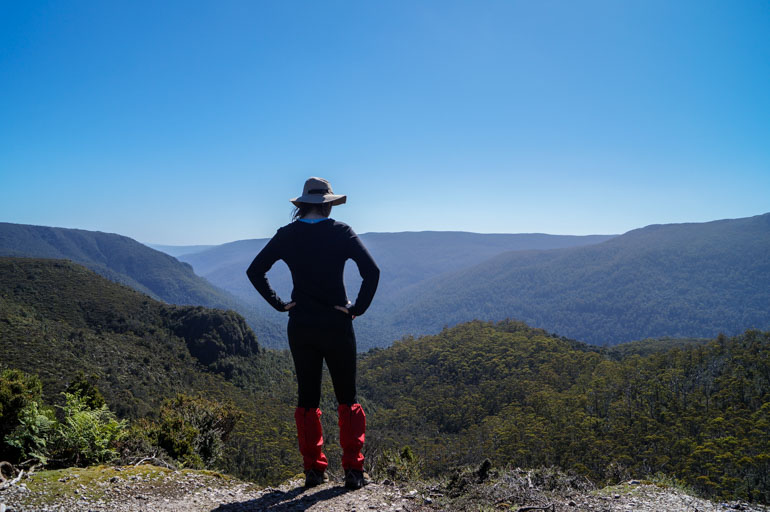 Me at Forth Valley Lookout, Overland Track