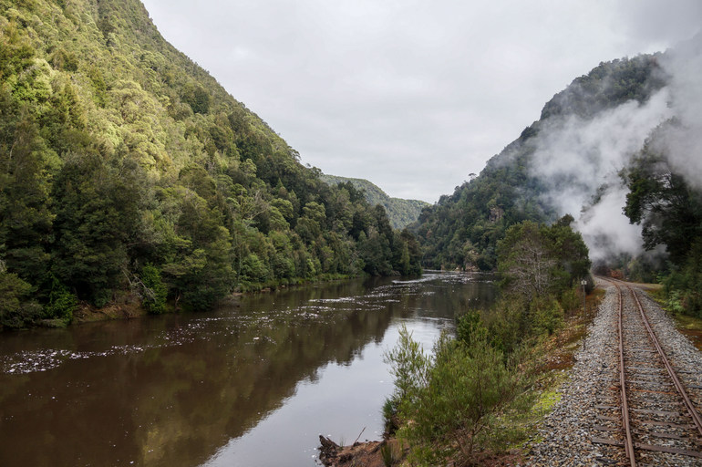 Along the King River, West Coast Wilderness Railway
