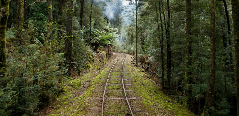 Through the wilderness, West Coast Wilderness Railway
