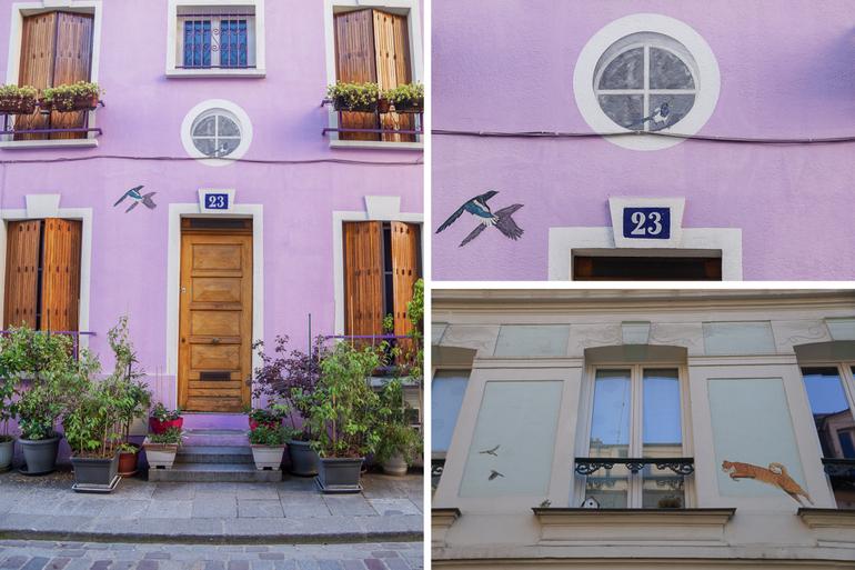 Trompe-l'œil in Rue Cremieux