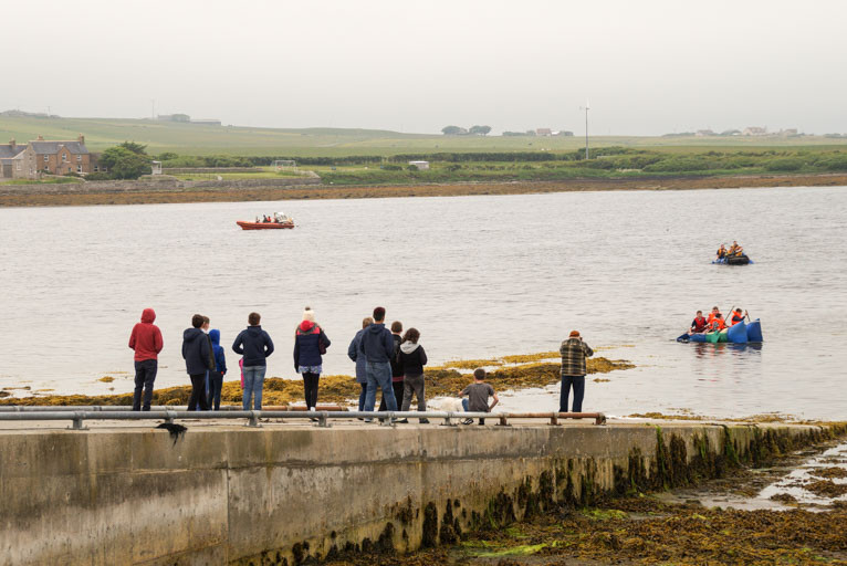 Raft race, Finstown, Orkney Islands