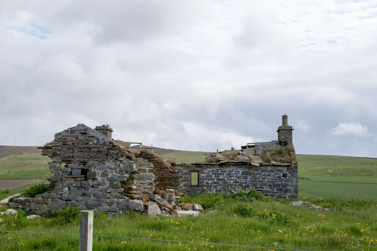 Stone ruins, Orkney Islands