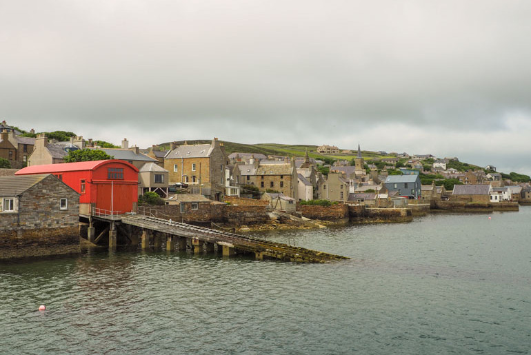Stromness waterfront Orkeny Islands