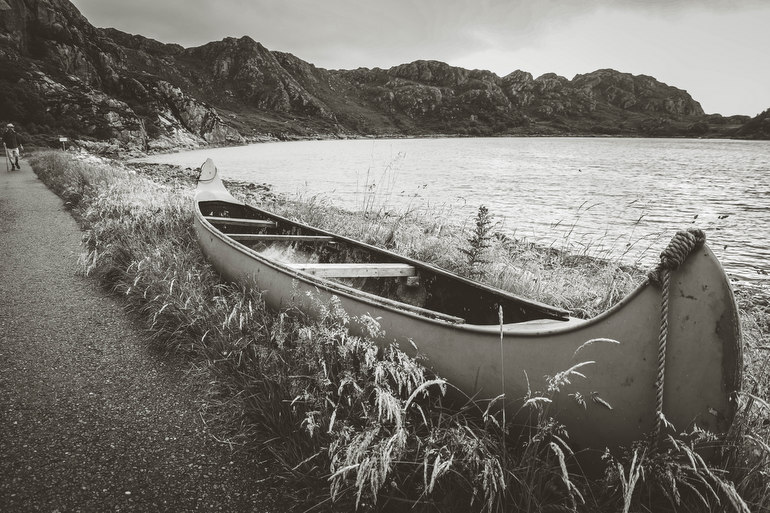 Canoe at Lower Diabaig